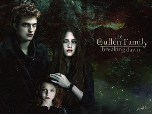 Edward, Bella, and Renesmee