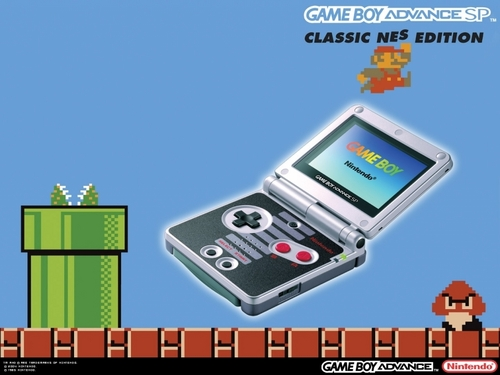 Super Mario Bros. wallpaper possibly with a cellular telephone entitled GBA SP Special Edition