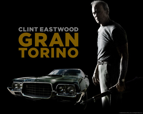 Clint Eastwood wallpaper possibly containing a sedan entitled Gran Torino