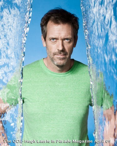 Hugh Laurie in Parade Magazine