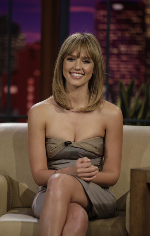 Jessica Alba on The Tonight Show with Jay Leno