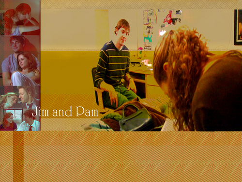 The Office wallpaper entitled Jim and Pam
