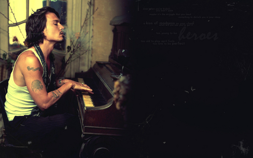 Johnny Depp wallpaper containing a pianist called Johnny Depp