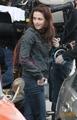 Kristen behind the scenes of New Moon - twilight-series photo