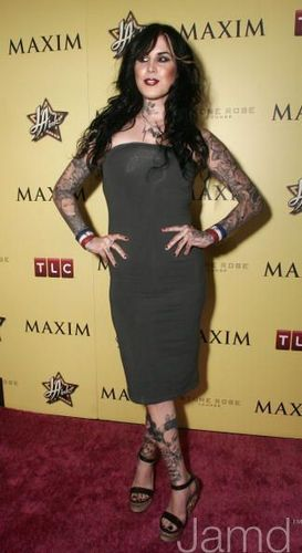 LA Ink wallpaper containing a well dressed person and an outerwear called LA INK Premiere Party hosted by TLC and MAXIM Magazine