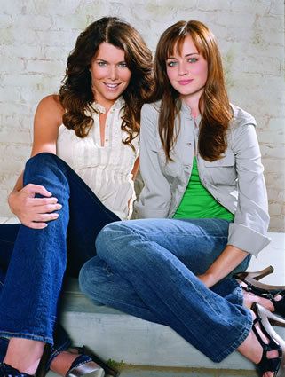 Gilmore Girls fond d'écran entitled Lorelai & Rory