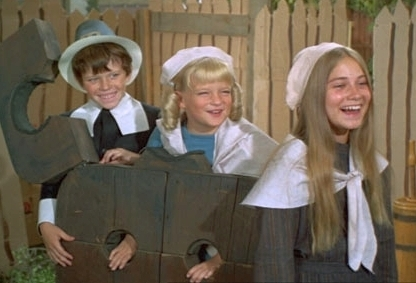 Marcia, Cindy and Bobby Brady