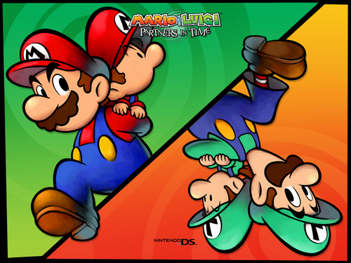 Luigi wallpaper containing anime called Mario & Luigi: Partners in Time