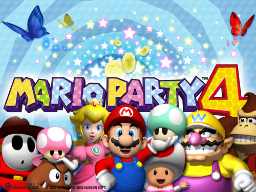Super Mario Bros. wallpaper probably containing anime called Mario Party 4