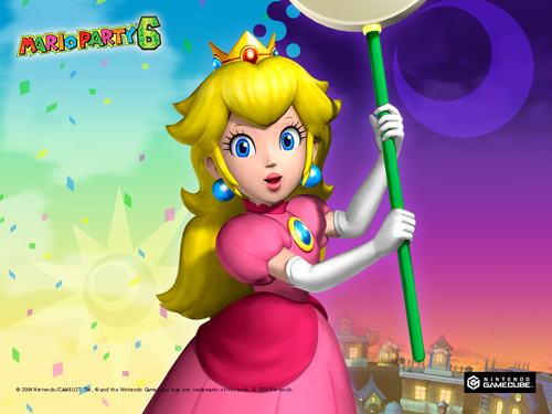 Princess Peach wallpaper entitled Mario Party 6