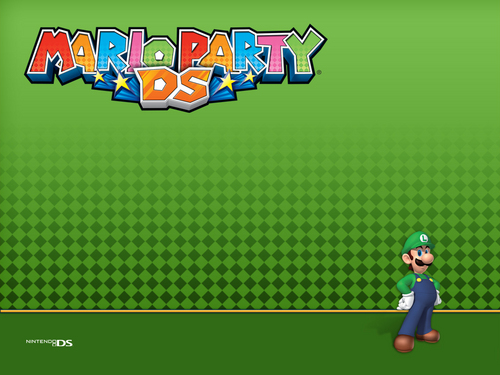 Luigi wallpaper titled Mario Party DS