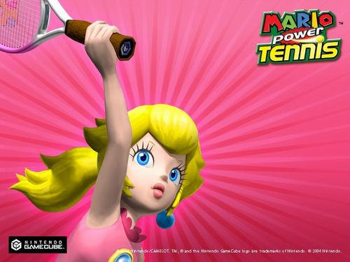 Princess Peach wallpaper called Mario Power Tennis