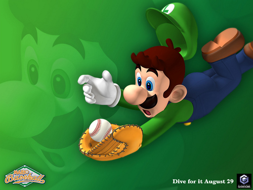 Luigi wallpaper probably with a fedora and a boater entitled Mario Superstar Baseball