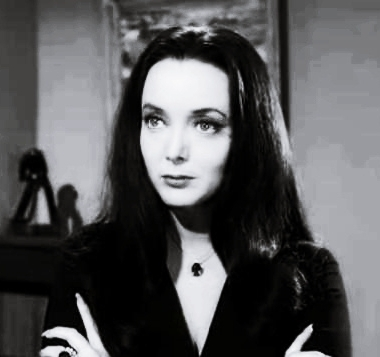 Addams Family wallpaper containing a well dressed person and a portrait titled Morticia Addams