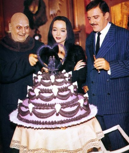 Morticia, Gomez and Uncle Fester