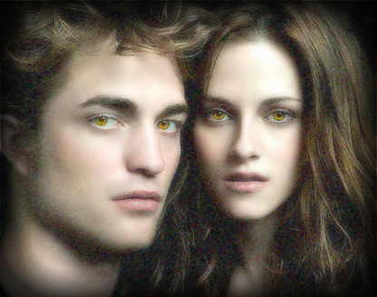 Twilight Saga Фильмы Обои probably with a portrait titled Mr & Mrs Cullen