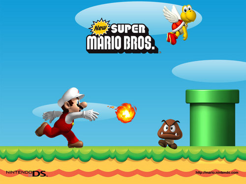 Super Mario Hintergrund probably containing Anime entitled New Super Mario Brothers