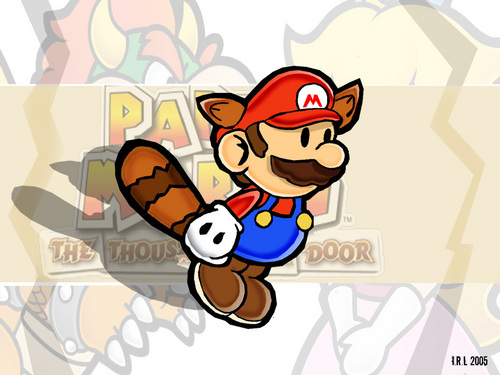 Paper Racoon Mario