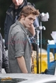 Robert behind the scenes of New Moon - twilight-series photo