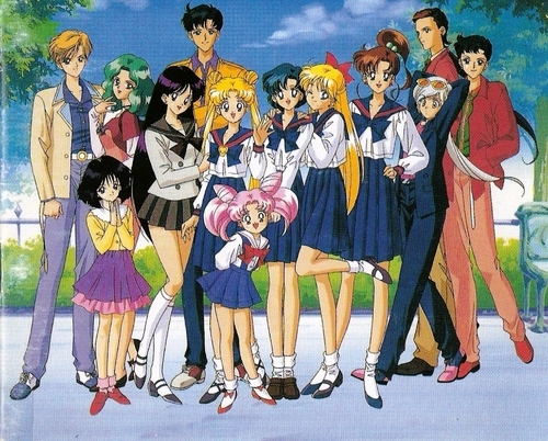 Sailor Moon karatasi la kupamba ukuta probably containing anime titled Sailor Moon