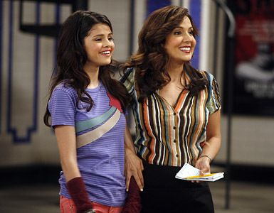 Selena with her onscreen mom Maria Cansals Barria