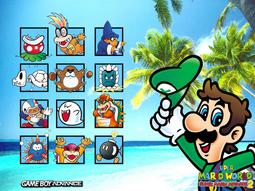 Luigi wallpaper with anime entitled Super Mario Advance 2: Super Mario World
