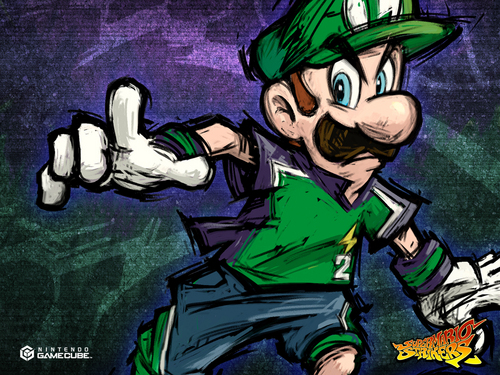Super Mario Strikers - luigi Wallpaper
