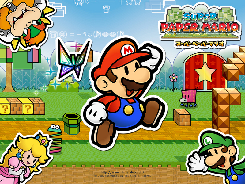 super mario wallpaper. Super Paper Mario Wallpaper