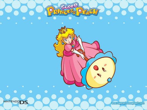 Princess Peach wallpaper possibly containing anime titled Super Princess Peach
