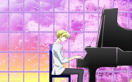 Ouran High School Host Club wallpaper containing a pianist and a grand piano called Tamaki