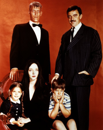 Addams Family wallpaper containing a business suit entitled The Addams Family