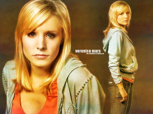 Veronica Mars দেওয়ালপত্র with a portrait, a well dressed person, and an outerwear entitled Veronica