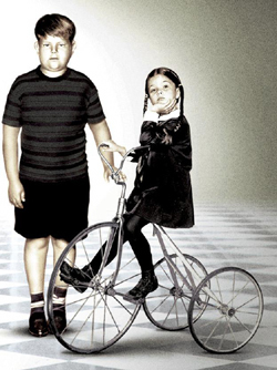 Wednesday and Pugsely Addams