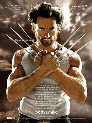 X-Men Origins: Wolverine wallpaper titled Wolverine/Hugh Jackman Got Milk campaign