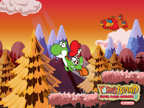 Yoshi wallpaper probably containing anime titled Yoshi's Island Advance