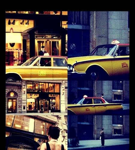 Blair Waldorf kertas dinding containing a street, a cab, and a pantai wagon entitled blair waldorf & audrey hepburn