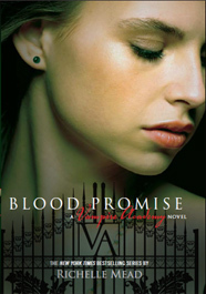 Richelle Mead karatasi la kupamba ukuta with a portrait entitled blood promise cover