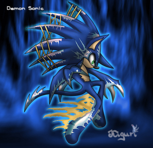 Sonic the Hedgehog wallpaper called demon sonic