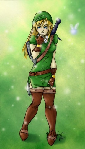 if link were a girl......
