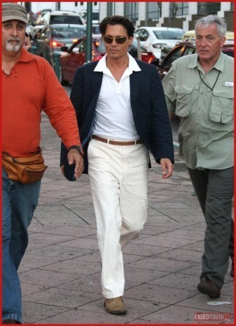 on set of the 'Rum Diary' , April 15th, 2009