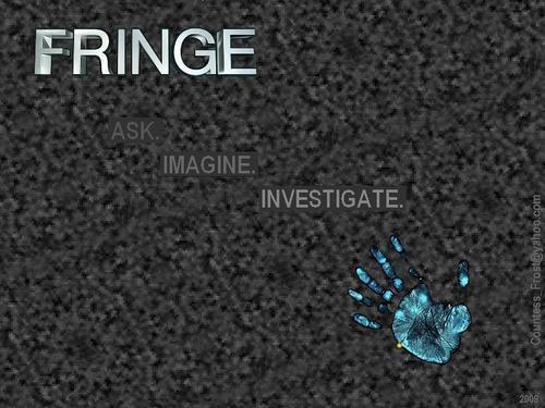 Fringe wallpaper titled Ask Imagine Investigate