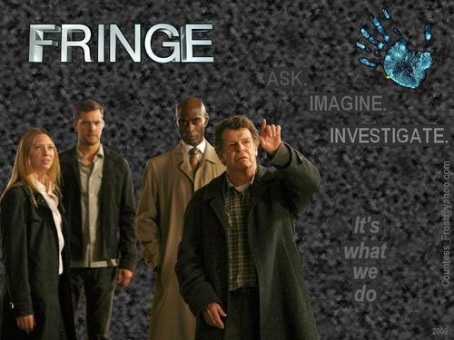 Fringe wallpaper with a business suit called It's what we do