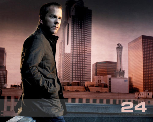 24 wallpaper with a business district, a business suit, and a street titled 24