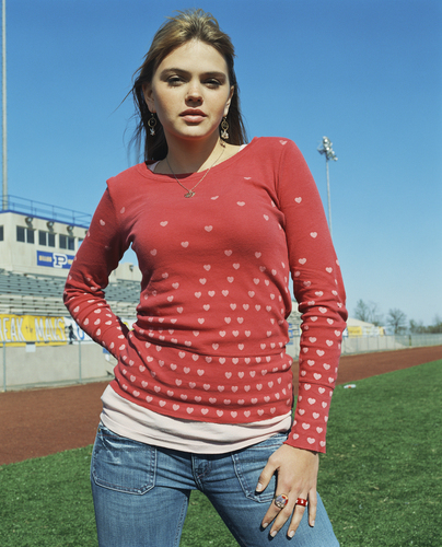 Friday Night Lights wallpaper probably with a switer lengan panjang, kaus called Aimee Teegarden