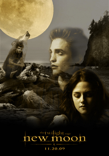 New moon poster by Janina