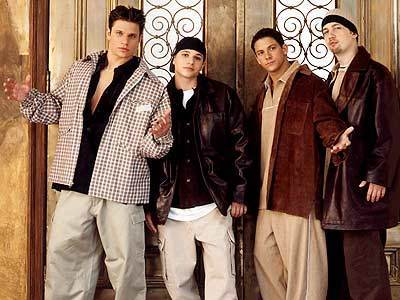The 90s वॉलपेपर with a business suit and a well dressed person titled Boy Bands