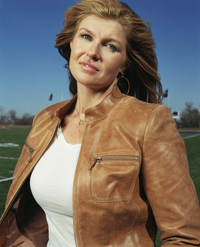 Friday Night Lights hình nền possibly containing an outerwear and a well dressed person entitled Connie Britton