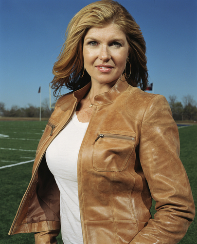 Friday Night Lights wallpaper possibly with an outerwear, a box coat, and a well dressed person titled Connie Britton