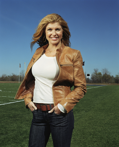 Friday Night Lights wallpaper containing an outerwear titled Connie Britton