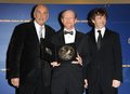 Frank Langella,Ron Howard and Michael Sheen